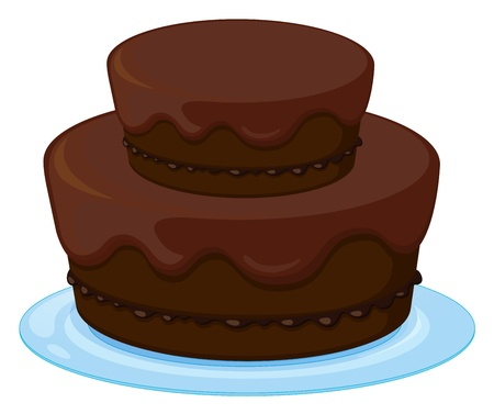 illustration of a birthday cake on a white background Stock Vector - 16283368