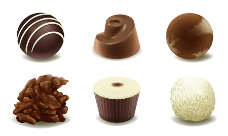 illustration of chocolates on a white background Vector