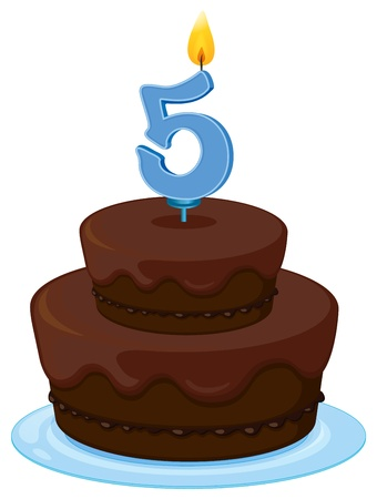 illustration of a birthday cake on a white background Stock Vector - 16319760