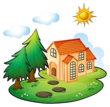 illustration of a house in a beautiful nature Stock Vector - 16319508