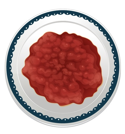 garnishing: illustration of a bean dip on a white background