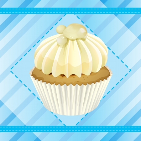 Illustration of an isolated cupcake and a wallpaper Stock Vector - 16319184