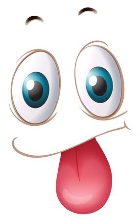 illustrazione di un volto su uno sfondo bianco