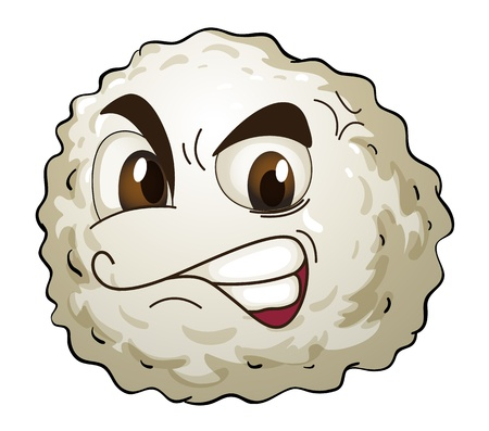 illustration of a monster face on a white background Vector