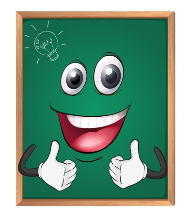 green board: illustration of a green board on a white background Illustration