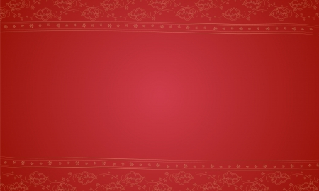 placemat: illustration of a red placemat