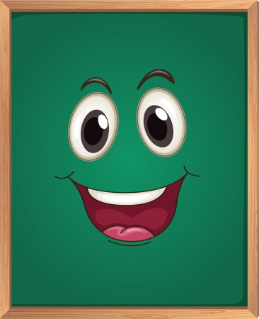 illustration of a green board Vector