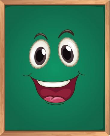 smilling: illustration of a green board Illustration