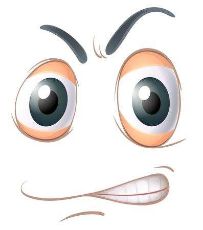 illustratie van een gezicht op een witte achtergrond