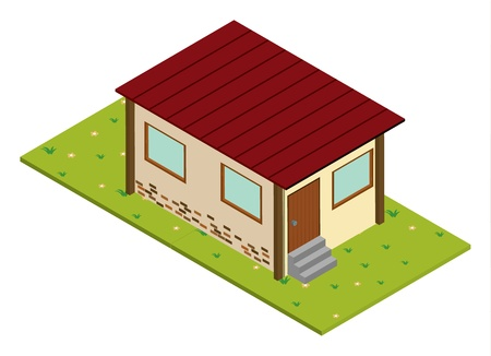animal shelter: illustration of a house on a white background