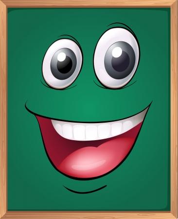 green board: illustration of a green board Illustration
