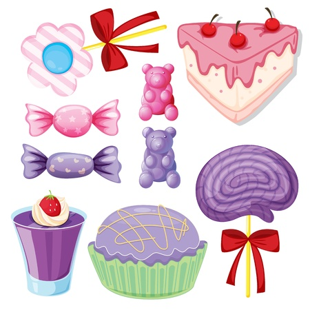 illustration of a various sweets on a white background Vector