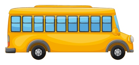 one vehicle: illustration of a bus on a white background