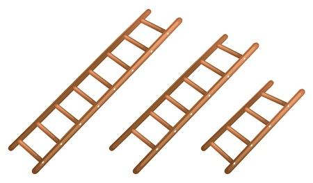 escaleras: Ilustraci�n de una escalera de mano sobre un fondo blanco