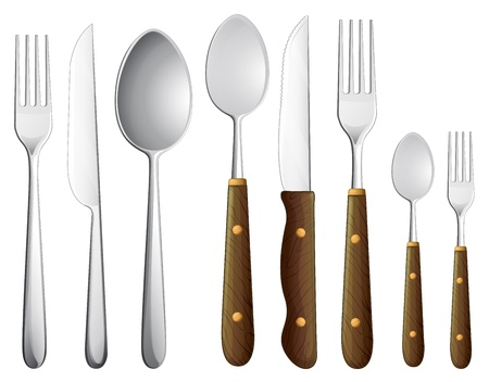 illustration of a spoon set on a white background Vector