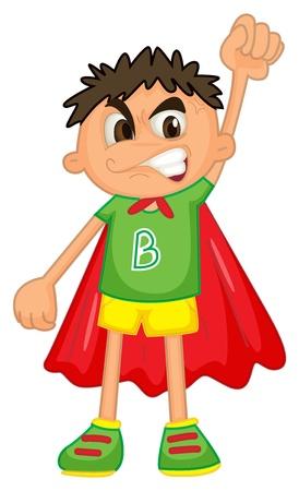illustration of a boy on a white background Vector