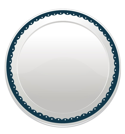dinner plate: illustration of a plate on a white background
