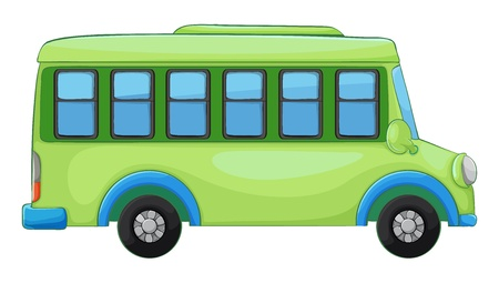 cartoon truck: illustration of a bus on a white background
