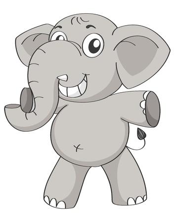 baby: illustration of an elephant on a white background Illustration