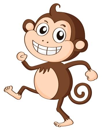 b�b� singe: illustration d'un singe sur un fond blanc