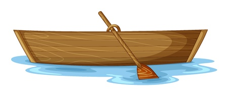 wood craft: illustration of a boat on a white background