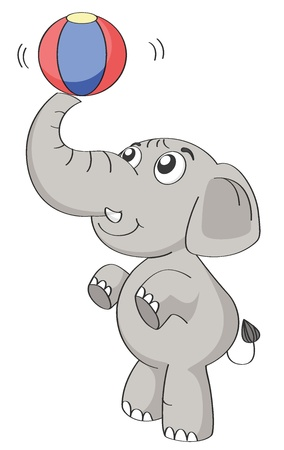 illustration of an elephant on a white background Vector