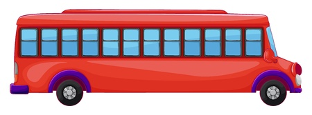 red bus: illustration of a bus on a white background