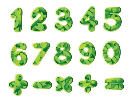 4 7: illustration of numbers and signs on a white background