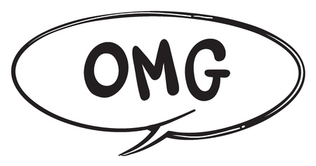 callout: illustration of a speech bubble on a white background