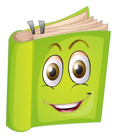 libro caricatura: ilustraci�n de un libro sobre un fondo blanco