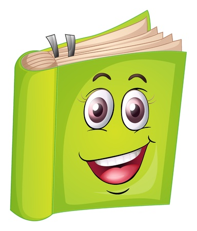 face book: illustration of a book on a white background Illustration