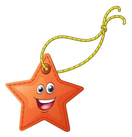 estrella caricatura: Ilustraci?n de una cara en un fondo blanco