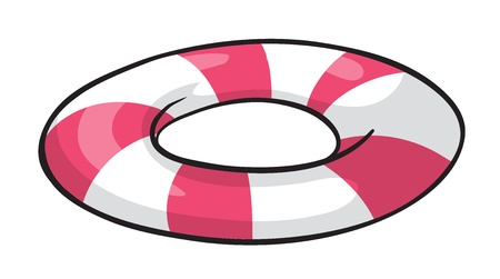 saver: illustration of a life saver on a white background Illustration