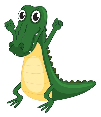 illustration of a crocodile on a white background Vector