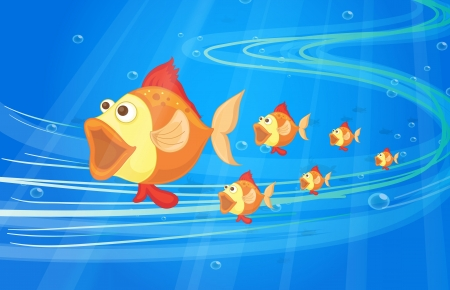 illustration of under water fish Stock Vector - 16633902