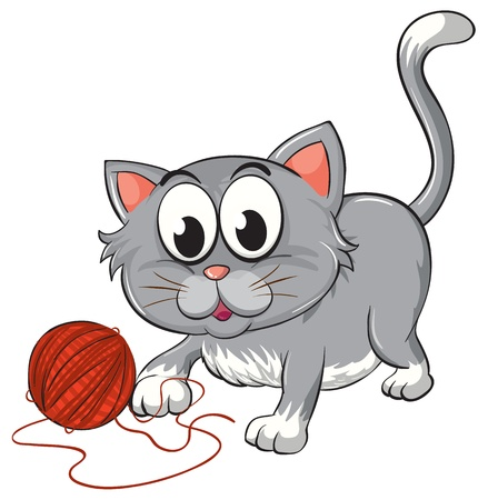wild cat: illustration of a cat on a white background