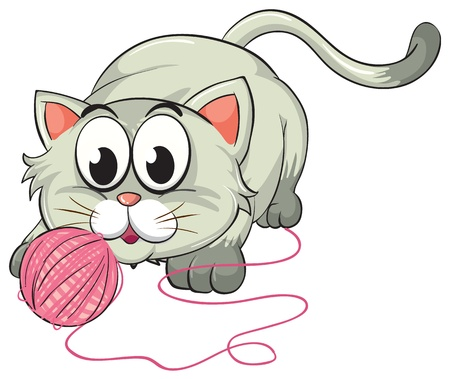 fleece: illustration of a cat on a white background