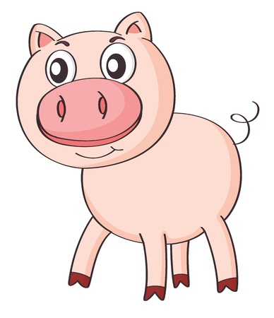 illustration of a pig on a white background Vector