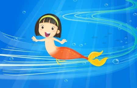 illustration of under water fish