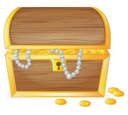 illustration of a jewelry box on a white background Vector