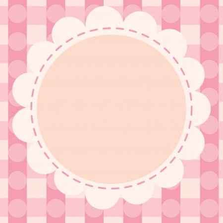 vague: illustration of a pink wallpaper Illustration