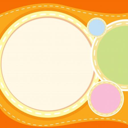 speculative: illustration of an orange wallpaper Illustration