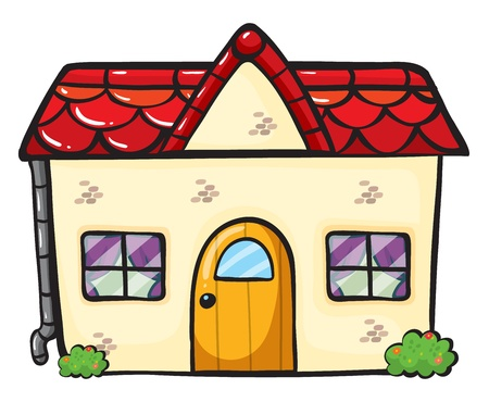 illustration of a house on a white background Stock Vector - 16734148