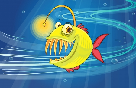 illustration of a fish underwater Stock Vector - 16734130