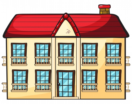 illustration of a house on a white background Stock Vector - 16734154