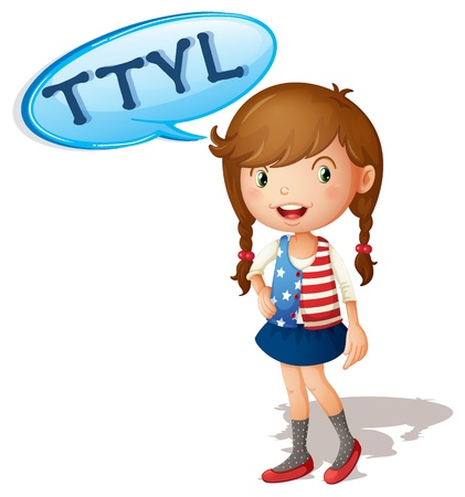 abbreviated: illustration of a girl on a white background