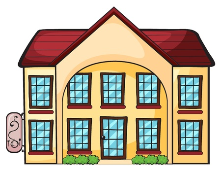 restaurant exterior: illustration of a house on a white background