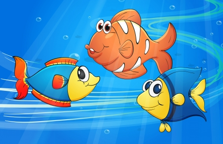 illustration of a fish underwater Stock Vector - 16733878