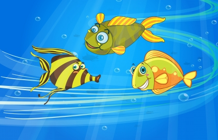 illustration of a fish underwater Vector