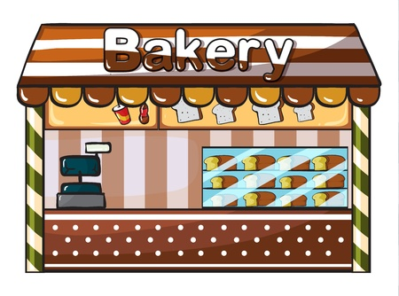 illustration of a bakery on a white background Vector